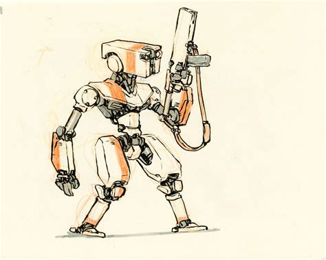 Drawing Robot by Concept Robot Sketches By Jake Mecha