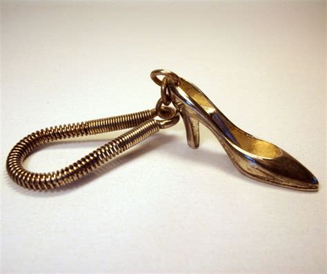 high heel keyring vintage high heel shoe keychain selby by vintageantiquelane