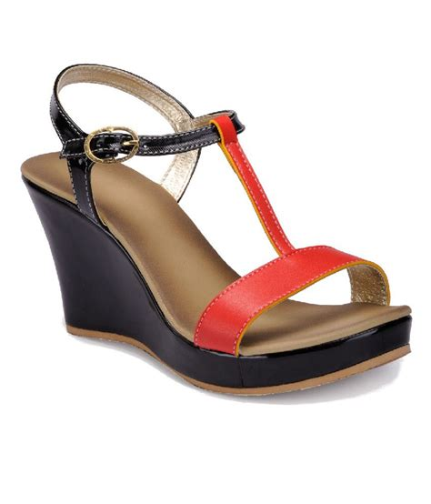 Sandal Wedges C Nel nell black wedges sandals price in india buy nell black