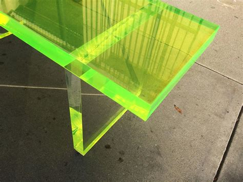 lime green bench lime green lucite bench by cain modern frame for sale at