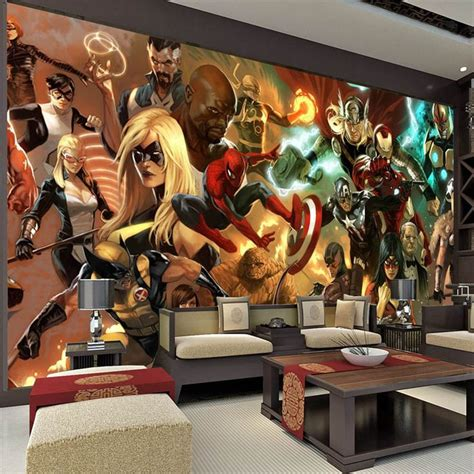 comic book decor contemporary dining room design with