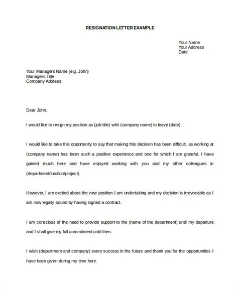 Free Sle Resignation Letter Word Format by 10 Resignation Letter Word Template Free Premium Templates