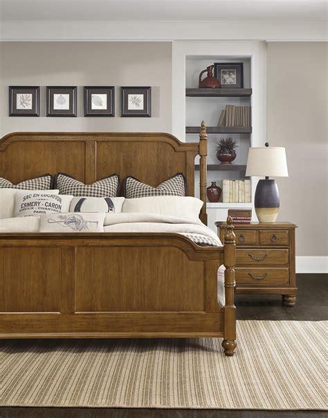 bright house bedroom furniture vaughan bassett arrendelle transitional king poster bed