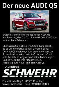 Audi Krumbach by Der Neue Audi Q5 Autohaus Schwehr Krumbach