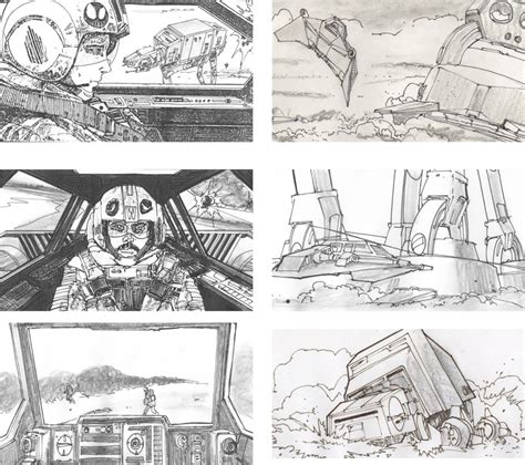 star wars storyboards sam elliott television blog storyboards