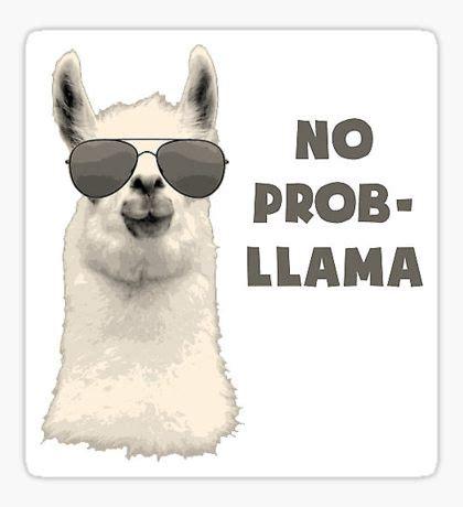 no prob llama: stickers | redbubble