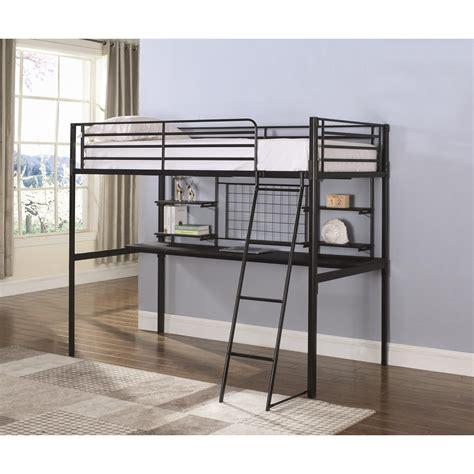 coaster loft bed with desk coaster boltzero 460473t contemporary loft bunk bed