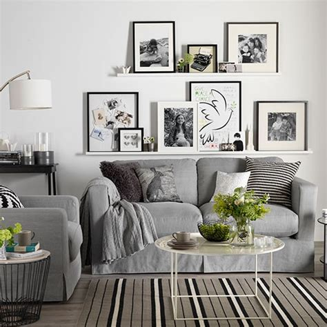 living room display living room decorating ideas housetohome co uk white living room with photo display decorating