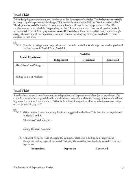 design controlled experiment worksheet experimental design worksheet middle school experimental