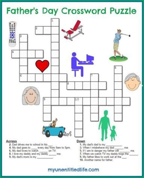 s day puzzle s day crossword puzzle crafts and activity