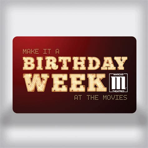 Movie Theatre Gift Card - marcus theatres birthday movie gift card weeklong edition