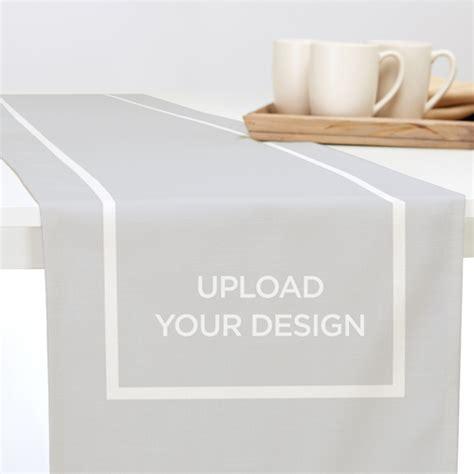 your own table runner upload your own design table runner home decor shutterfly