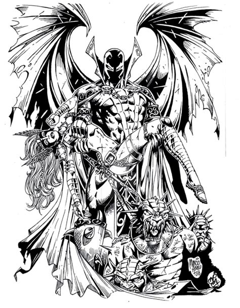 spawn coloring pages colorr me