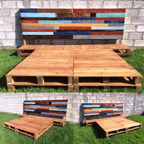 diy wood pallet bed diy pallet bed frame with headboard 99 pallets