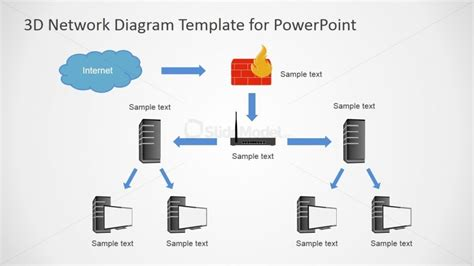network diagram templates for powerpoint tree topology powerpoint network diagram slidemodel