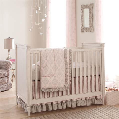 paris script 3 piece crib bedding set carousel designs