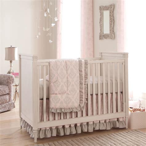 crib set paris script 3 piece crib bedding set carousel designs