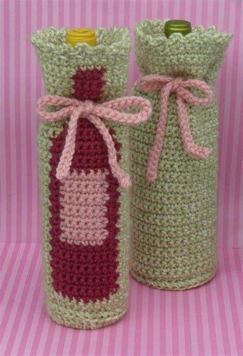 pattern for crochet bottle bag pin by pam merkin on crochet wine bottle covers pinterest