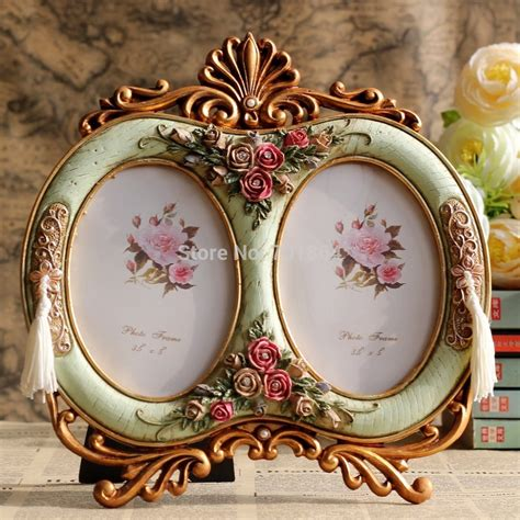 vintage rose home decor vintage home decor 3 5 x 5 quot double oval photo frames with