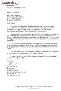 Appreciation Letter Leadership led quot orchestrating leadership quot program for san jose leadership