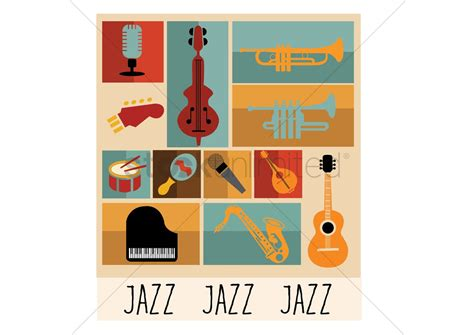 what instruments can be found in the jazz rhythm section jazz instruments vector image 1403392 stockunlimited
