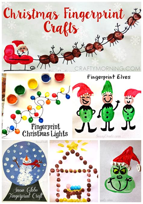 christmas winter fingerprint craft ideas for kids
