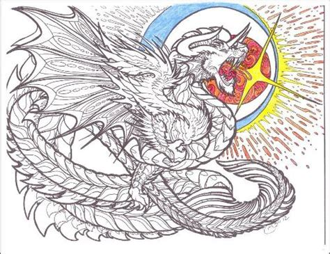 complex coloring pages of dragons rage dragon a day with depression