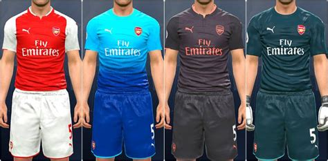 arsenal pes 2017 pes modif pes 2017 arsenal kit 2017 18 by ar11 kits