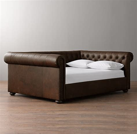 leather day bed chesterfield leather daybed