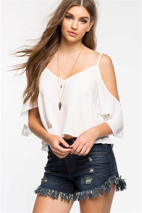 88 Blouse V Sm s blouses cold shoulder blouse a gaci