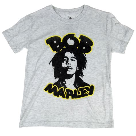 Gray T Shirt U261 bob marley retro gray t shirt youth rastaempire