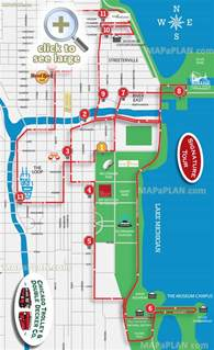 Chicago Sightseeing Map chicago tourist map tourism fiji