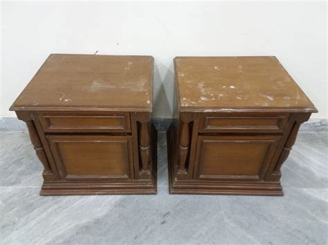 Side Table For Bed Bed Side Table Pair 1 Used Furniture For Sale