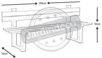 plan table de jardin avec banc jsscene des id 233 es