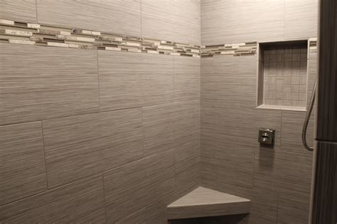 How To Tile A Bathroom Shower Wall What S In Tile Showers Right Now And Other Flooring Trends Interiors