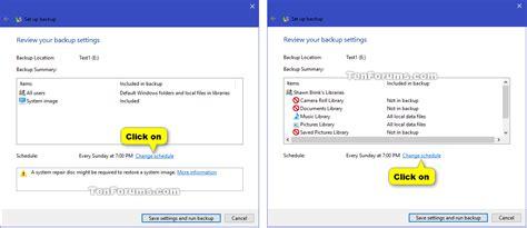 windows 10 setup tutorial windows backup set up in windows 10 windows 10 tutorials