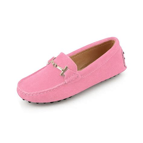 womens pink suede horsbit driving shoes shoe by
