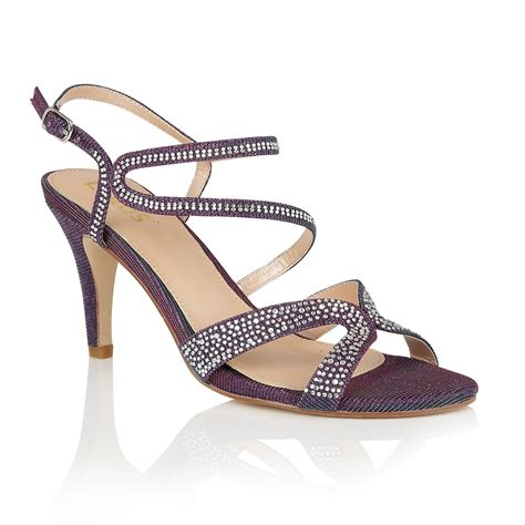 hibiscus sandals lotus hibiscus diamante open toe sandals in purple lyst