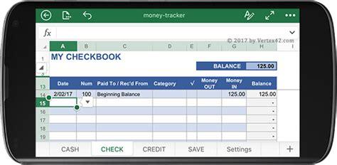 Spreadsheet Mobile by Money Tracker Spreadsheet For Mobile Excel