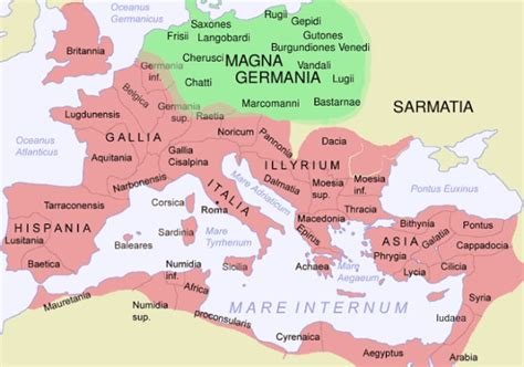 maps germania map of magna germania and empire historical maps
