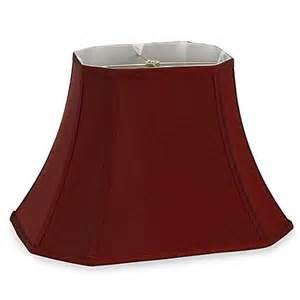 mix amp match large 18 inch shantung cut corner rectangular lamp shade in burgundy bed bath amp beyond