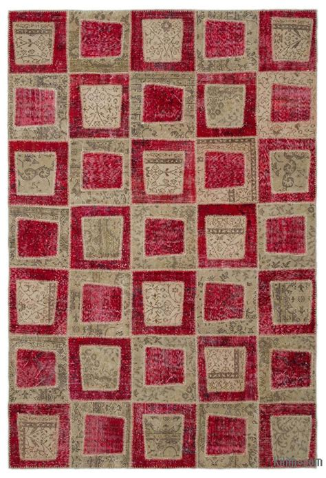 Overdyed Patchwork Rug - k0022031 dyed turkish patchwork rug