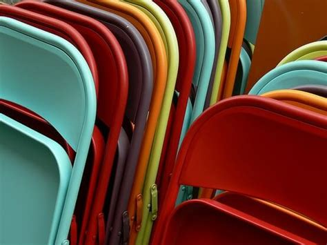 spray painting metal furniture pops of color painted chairs homejelly