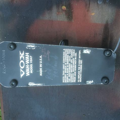 wah dual inductor mod vox crybaby wah early reissue moddded dual inductor jimmy reverb