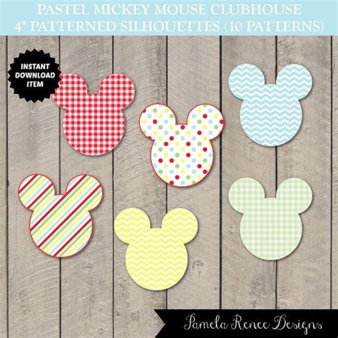 instant 4 quot patterned tags pastel mickey mouse