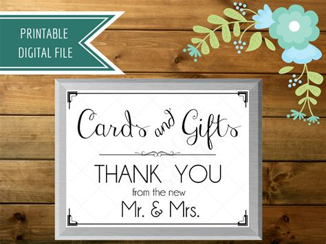 Wedding Card Box Sign wedding card box sign cards and gifts sign gift table