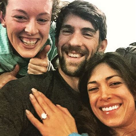 Michael Phelps And Johnson At Olympic Swimmer Michael Phelps Gets Engaged