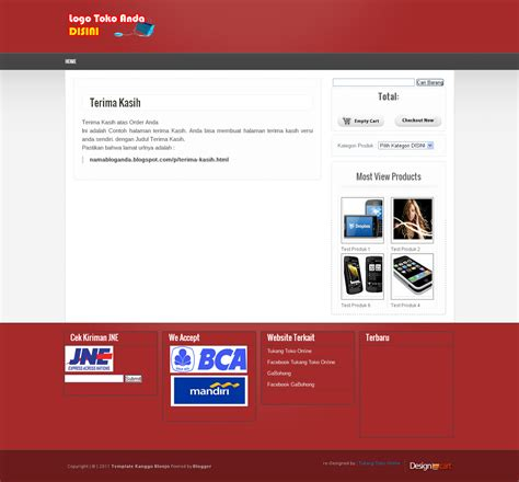 template blogger toko online tanpa cart safri99 gratis premium blogger template toko online