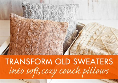 How To Make A Pillow From A Sweater by How To Recycle A Sweater Into A Throw Pillow Inhabitat