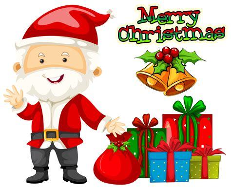 christmas theme  santa  presents   vector art stock graphics images